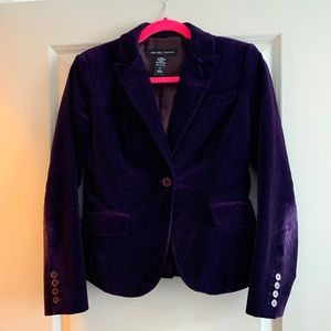 New York & Company purple velvet blazer size 2